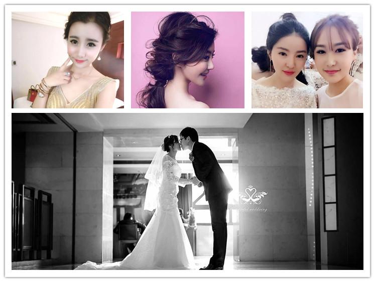 新娘跟妆年会舞台妆T台走秀杂志模特淘宝化妆