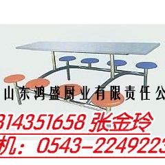 定做周口市淮阳县大型餐厅快餐桌椅定做厂家-不锈钢8人座椅-餐桌椅定做