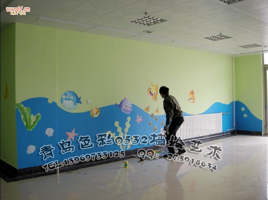青岛幼儿园墙体彩绘 幼儿园墙绘 幼儿园彩绘 青岛色彩
